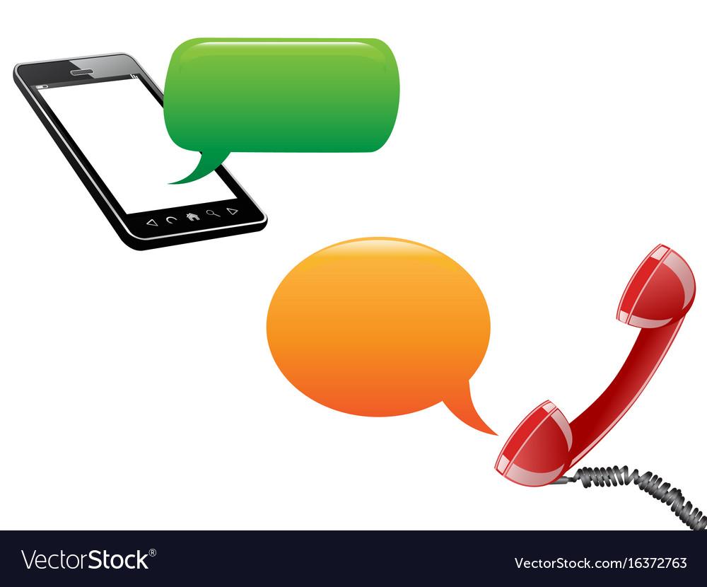 Phone communication background vector image