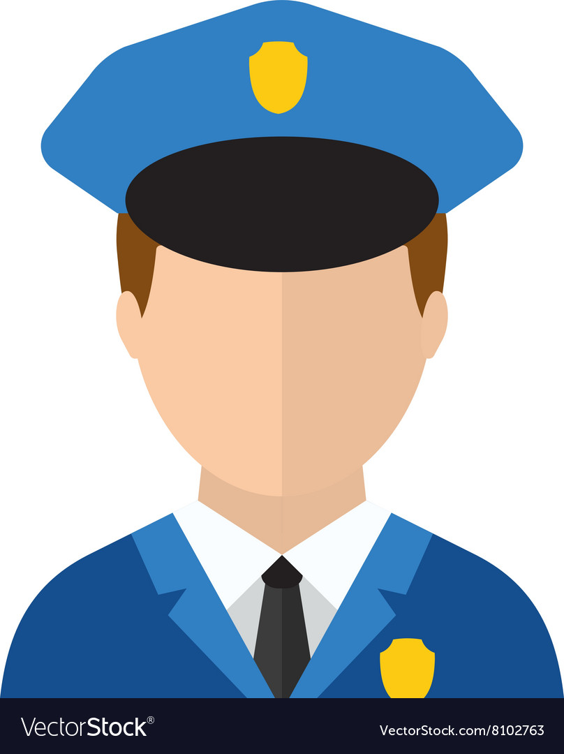 Police man officer avatar in suit and cap