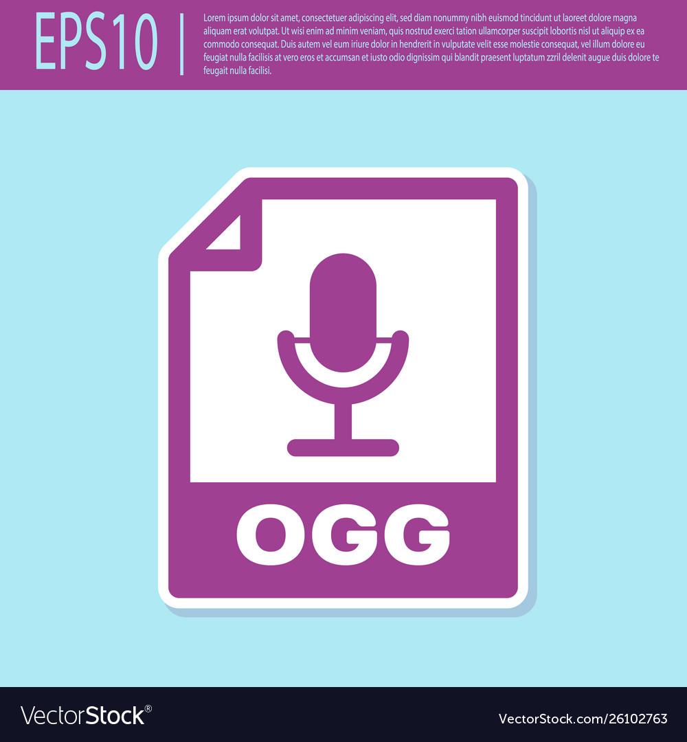 Retro purple ogg file document icon download ogg