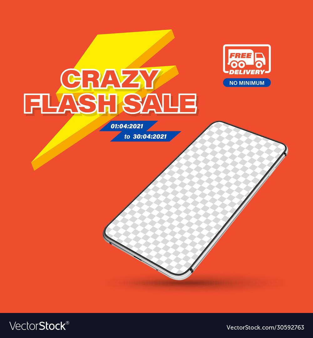 Template crazy flash sale