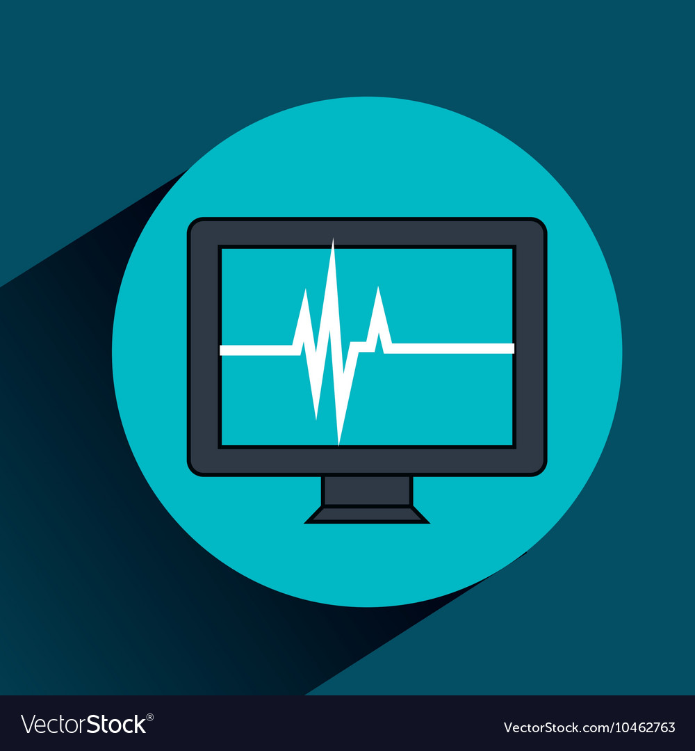 Test cardiology display isolated icon