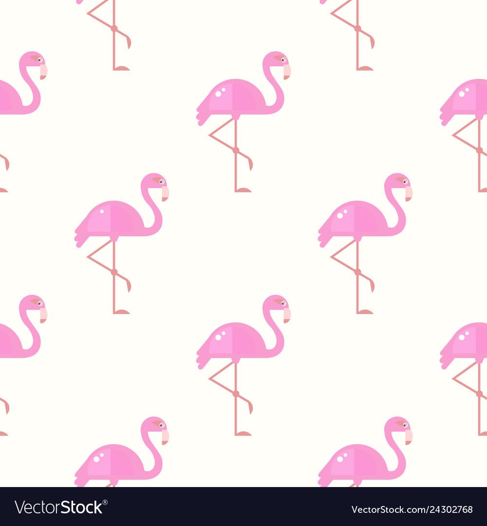 Flamingo bird background retro seamless pattern