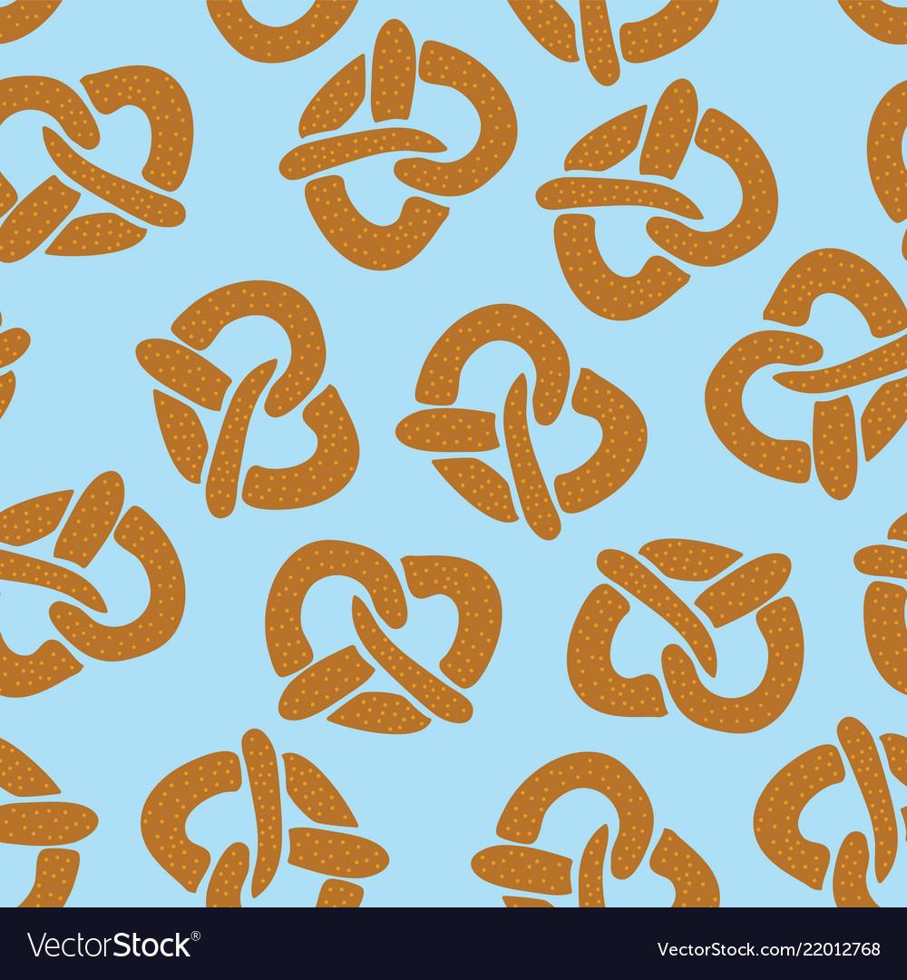 Seamless pattern with pretzels for oktoberfest