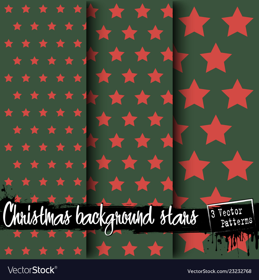 Set of christmas backgrounds of stars