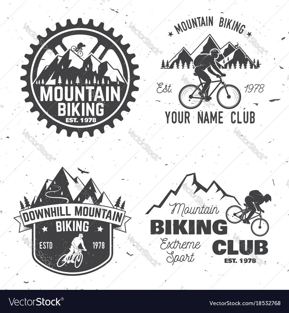 Set of mountain biking clubs
