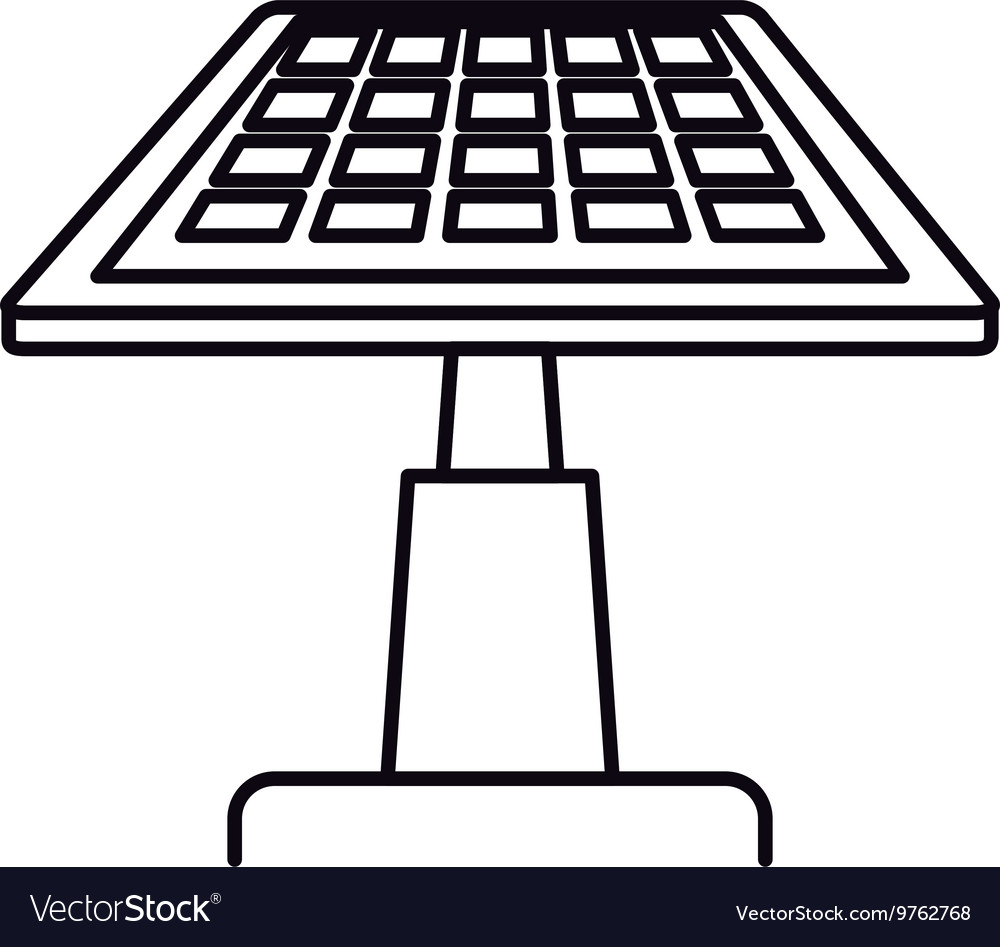 Solar panel isolated icon design