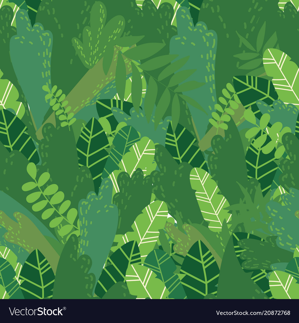 Summer leaves seamless pattern
