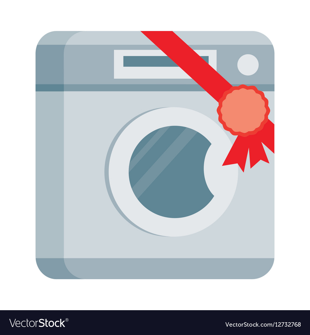 Washing machine in Flat Design