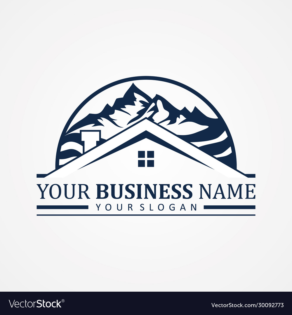 Abstract design symbol for real estate company