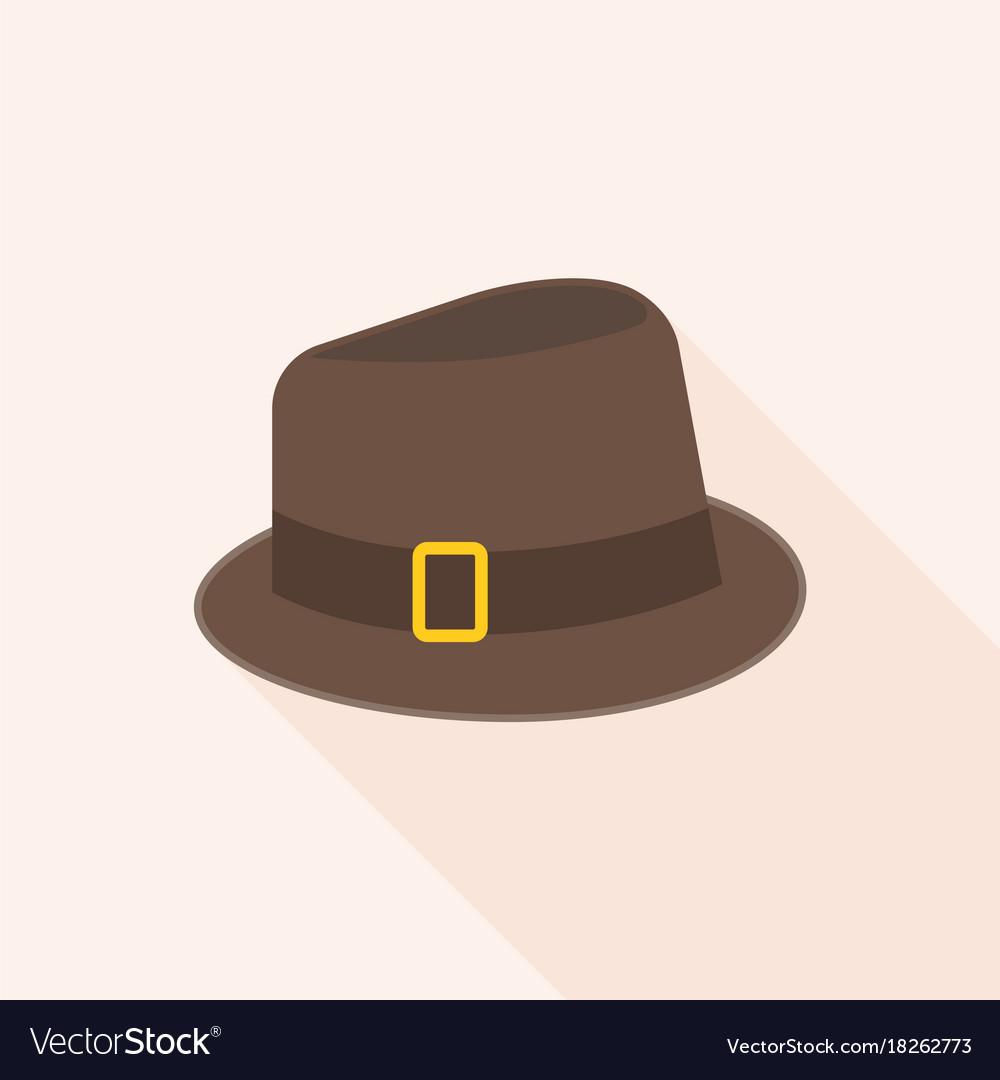 689de683721ee Brown wool fedora hat Royalty Free Vector Image
