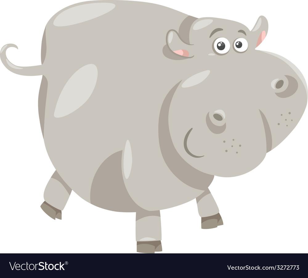 Cute hippopotamus cartoon