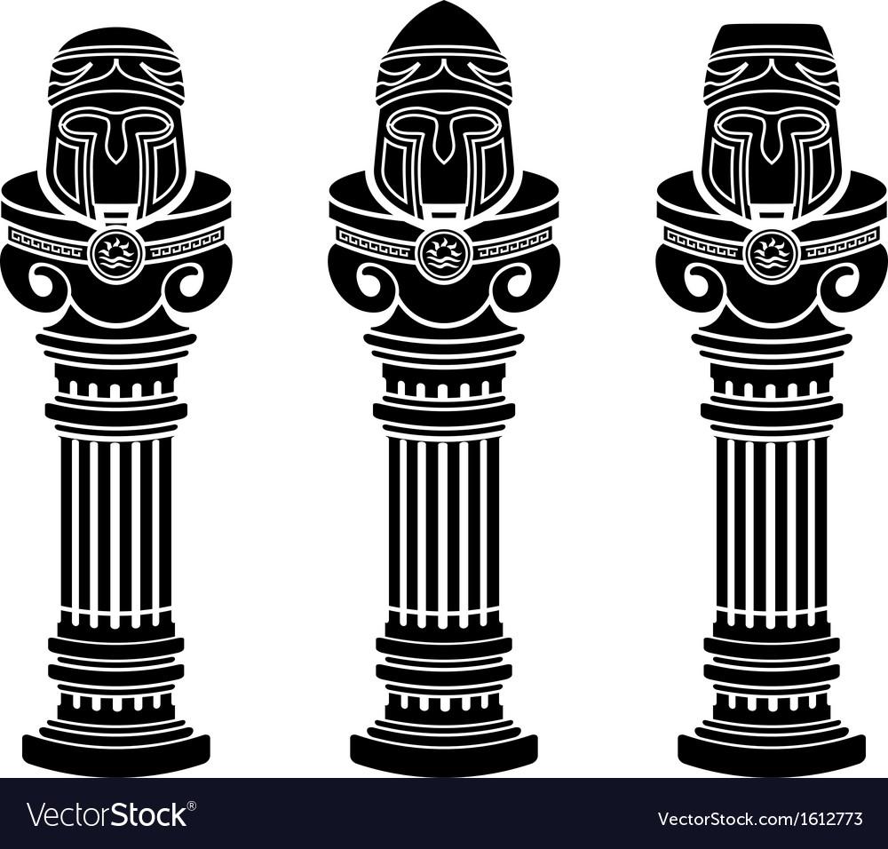 Pedestals of medieval helmets