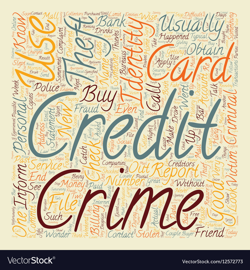 Report identity theft text background wordcloud