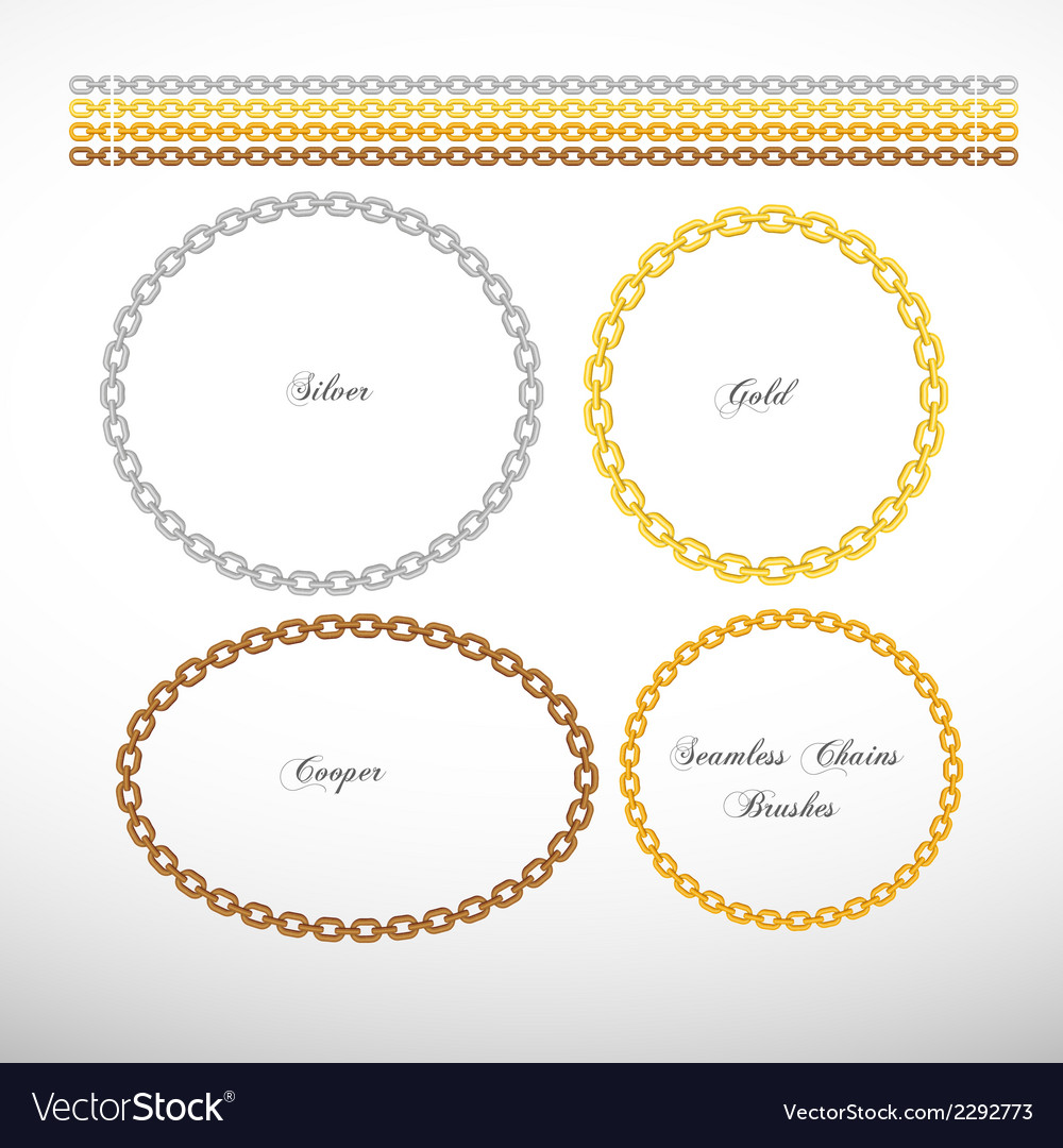 Seamless chains vector image