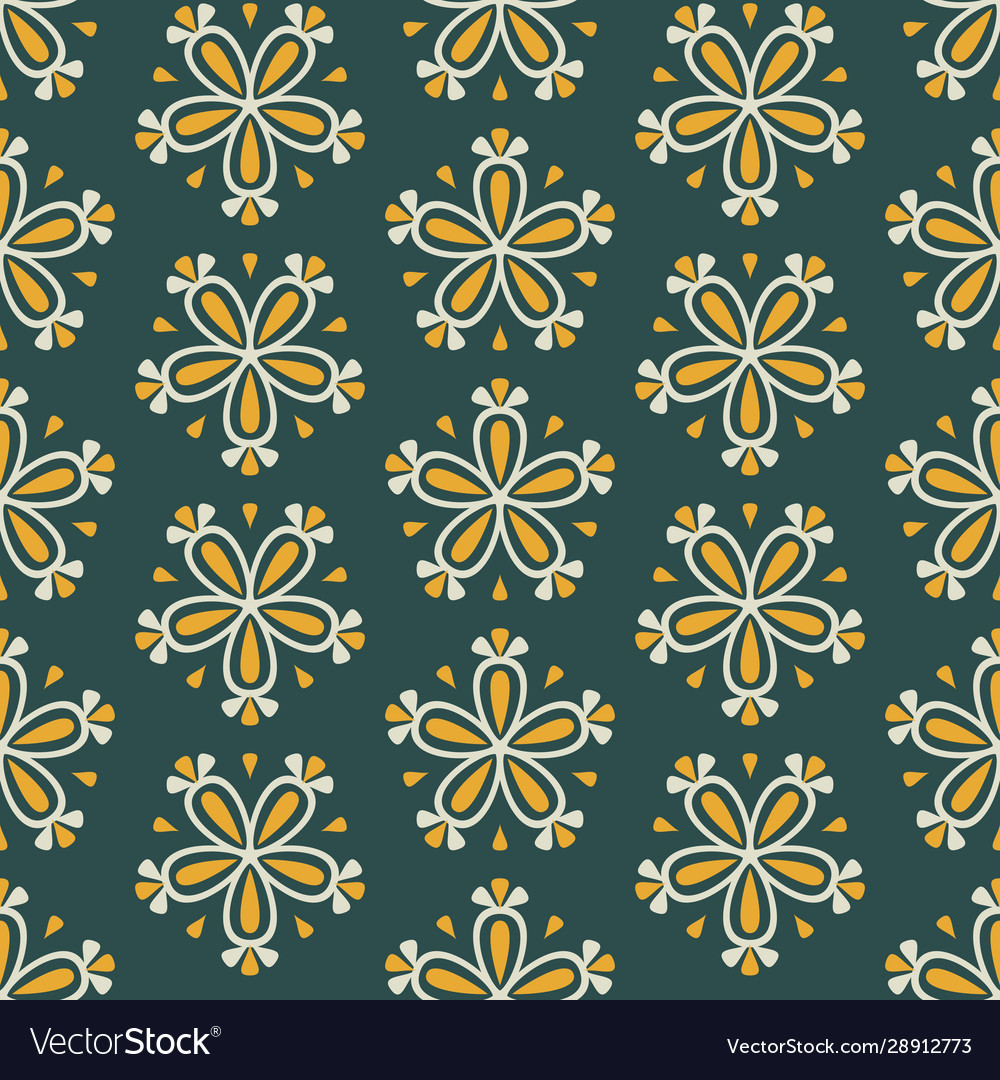 Tile green seamless floral for decoration