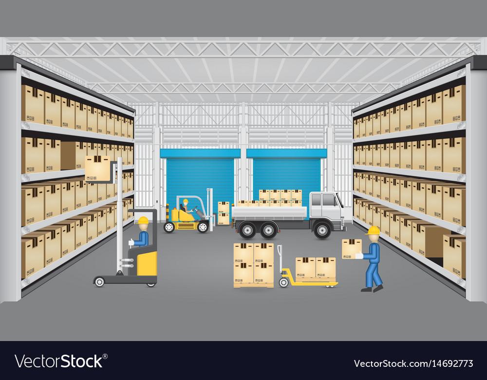 Warehouse design Vector Image