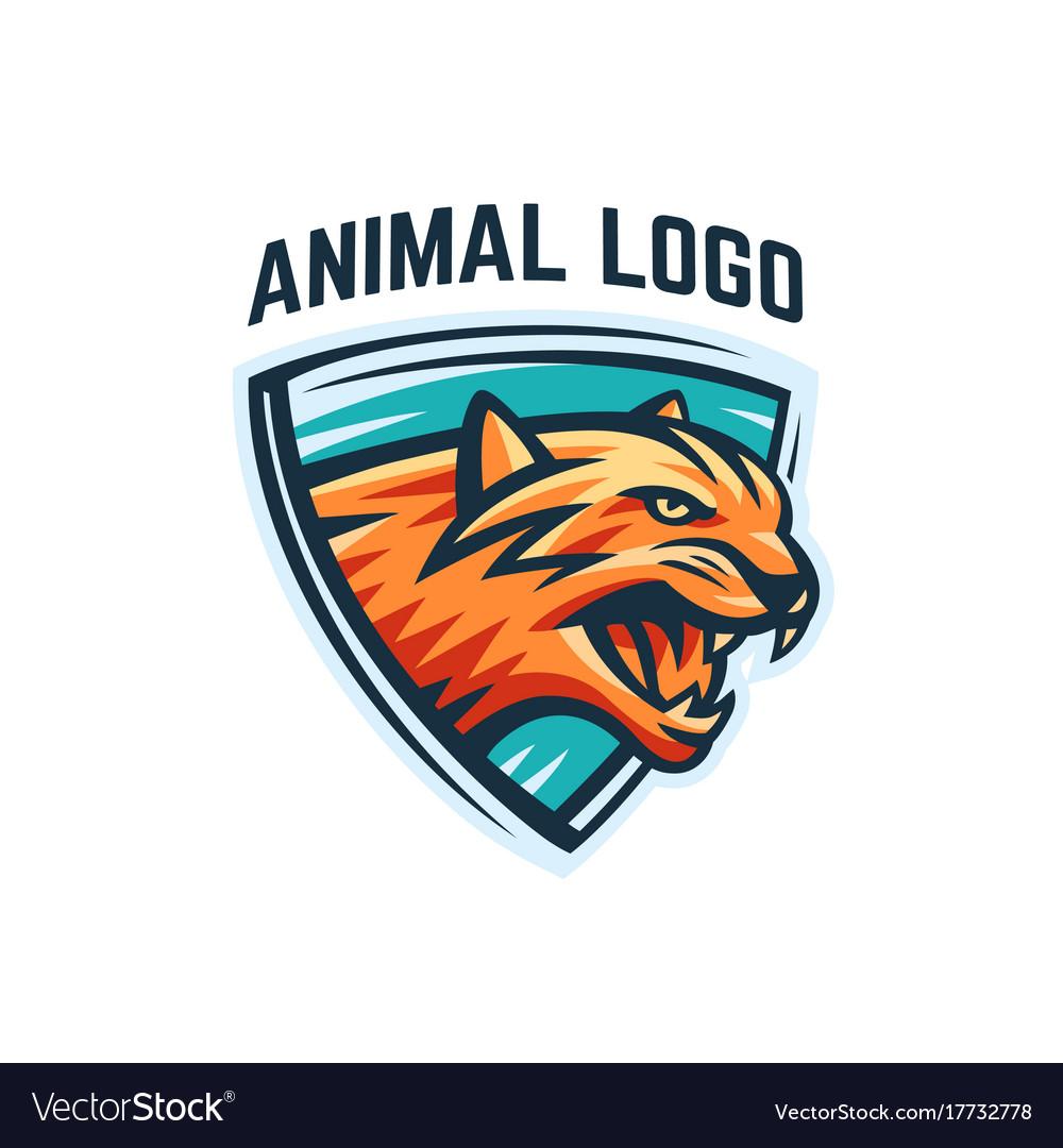 Animal logo on a white background