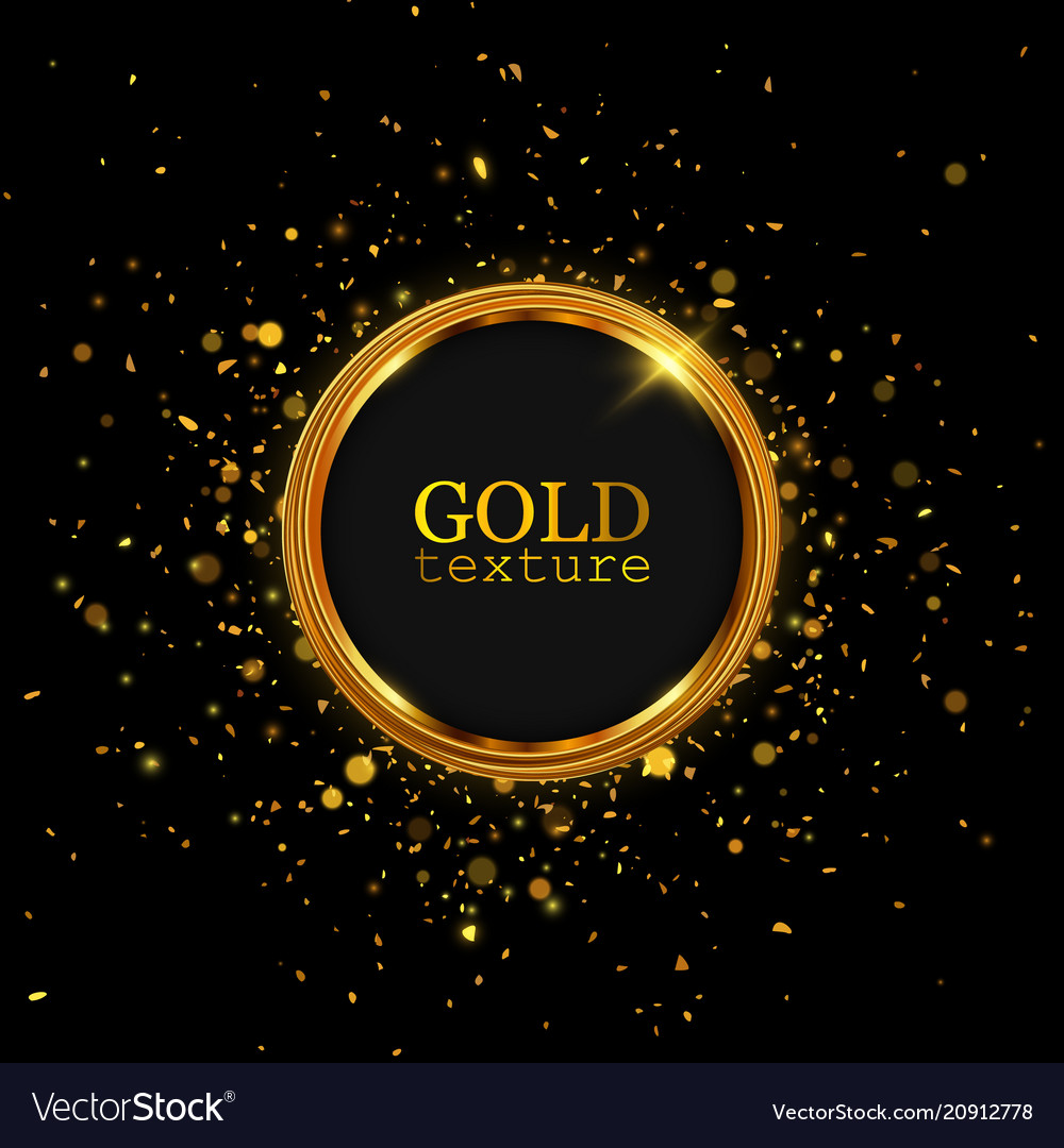 Gold glitter dust abstract luxury background