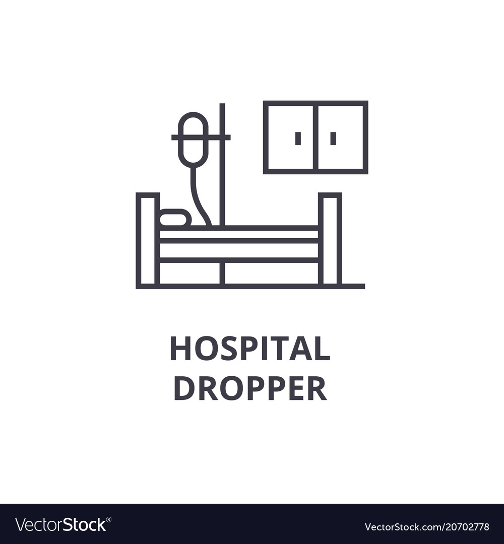 Hospital dropper thin line icon sign symbol vector image