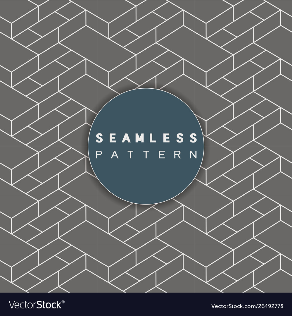 Outline 3d geometric pattern seamless retro style