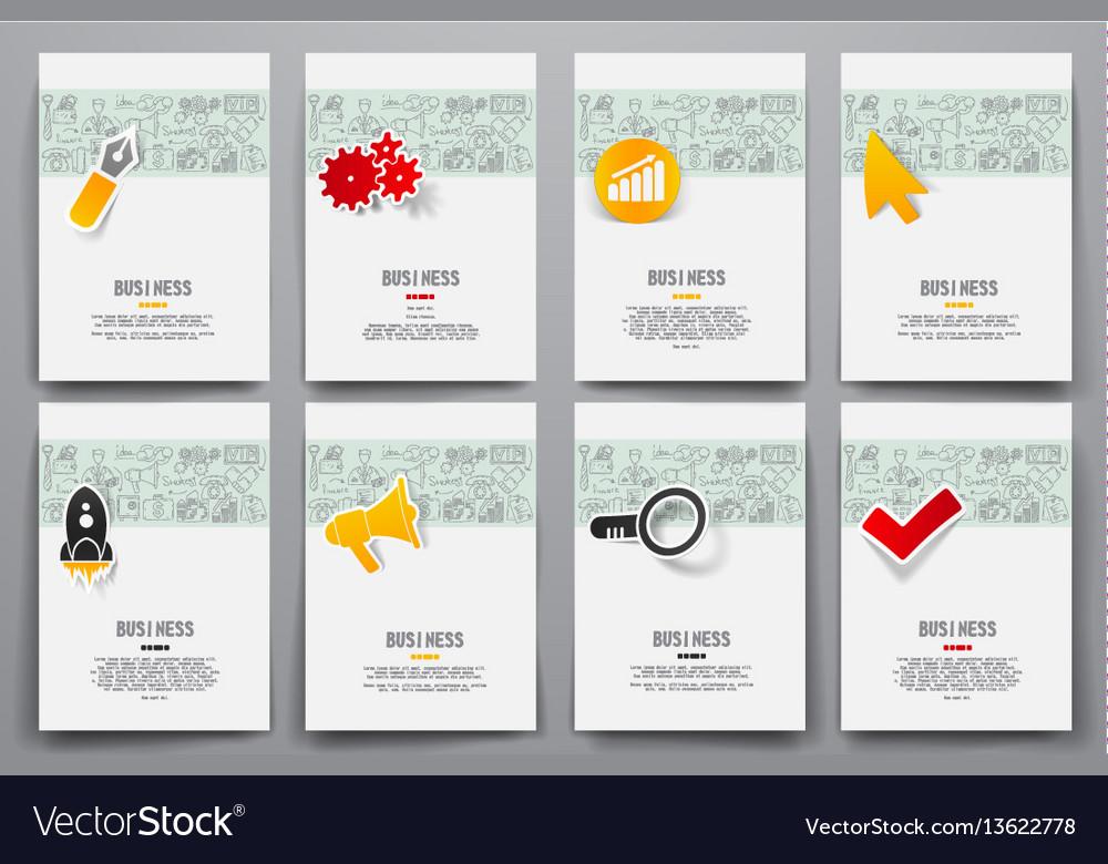 Set of brochure design templates vector image