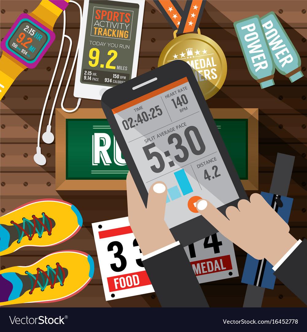 Sport activity application in smartphone