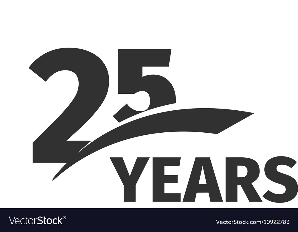 Isolated abstract black 25th anniversary logo on vector image altavistaventures Image collections