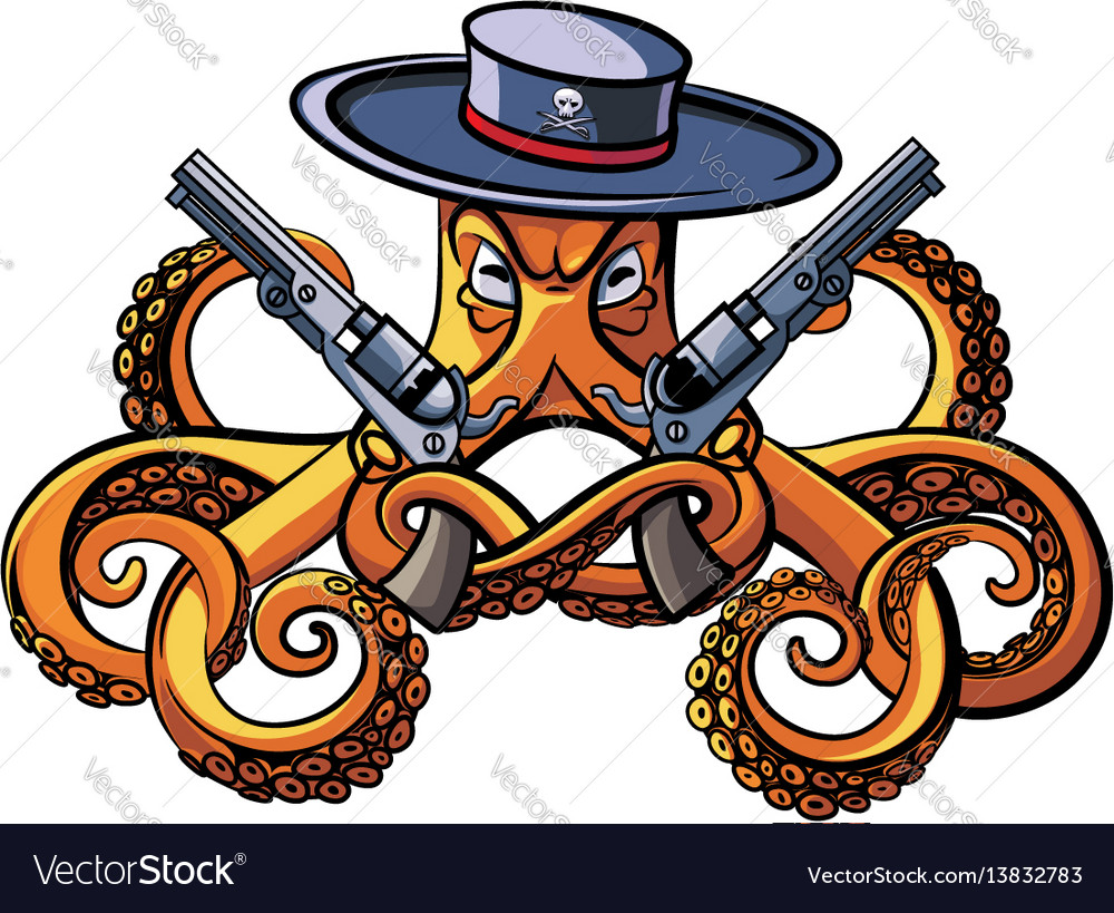 Octopus the bandit vector image