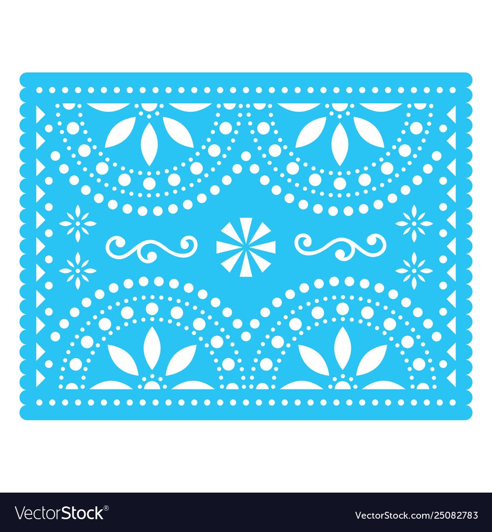 Papel picado design mexican decorations