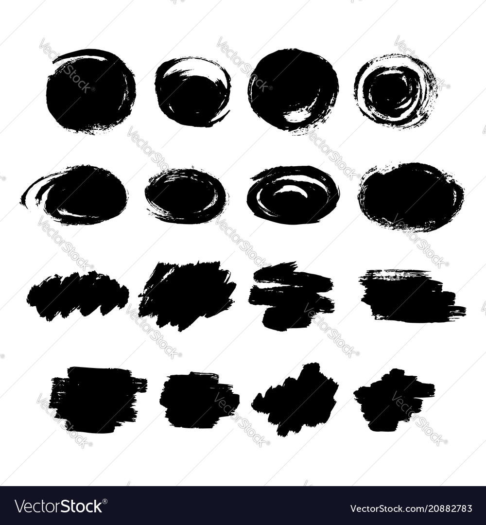 Set hand drawn scribble line shapes set of