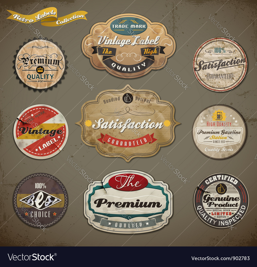 Vintage and Retro Labels vector image