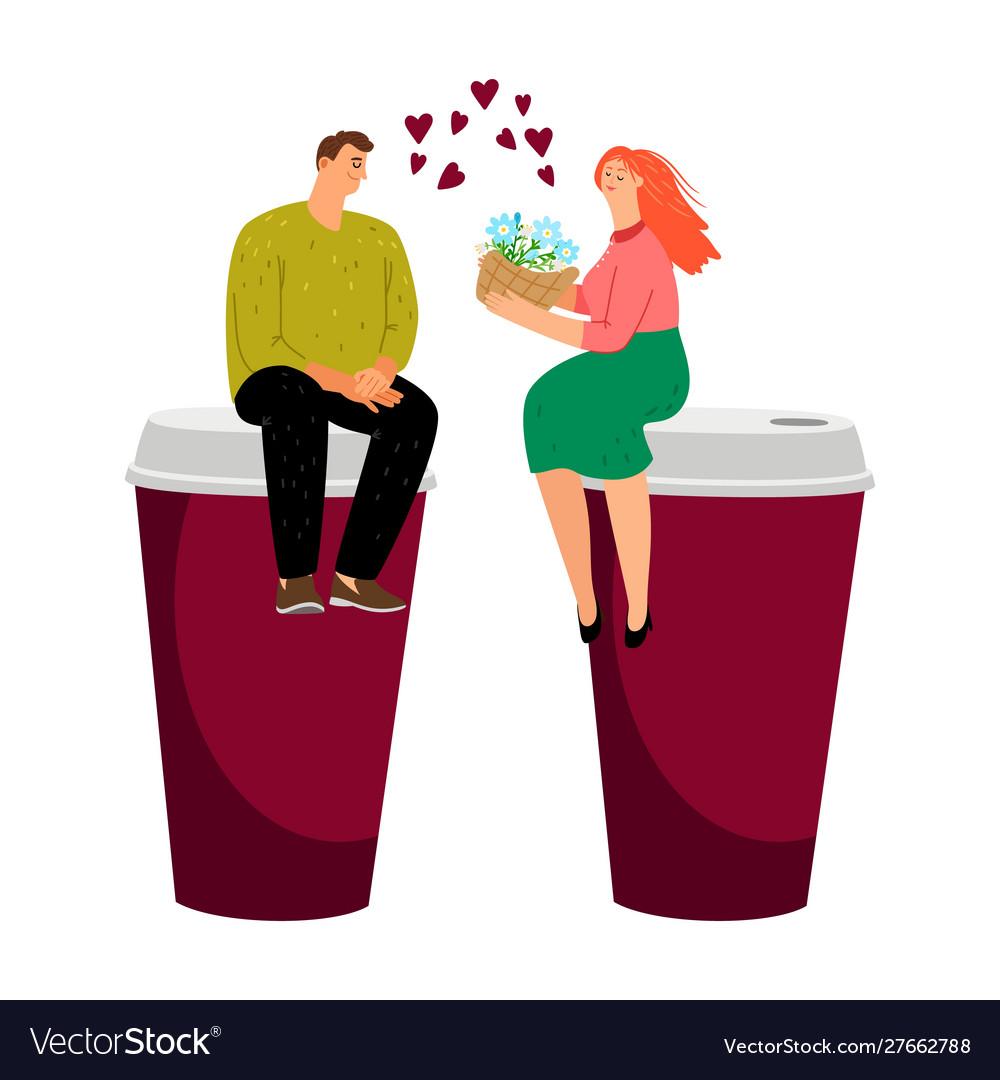 Coffee dating couple