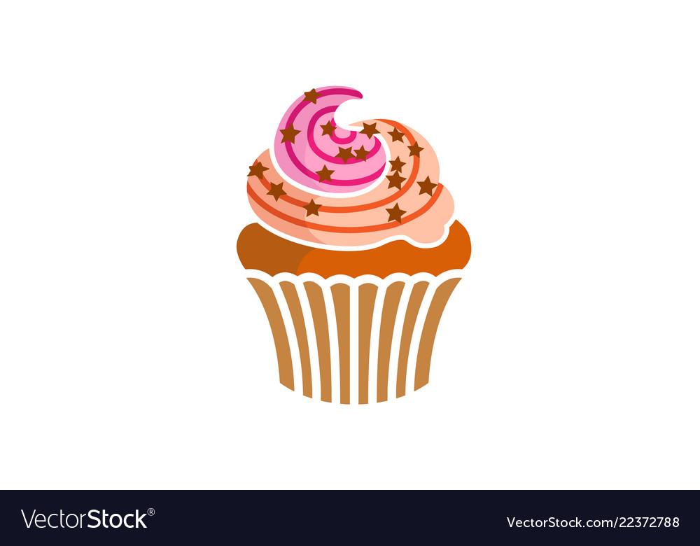 Cupcake delicious logo
