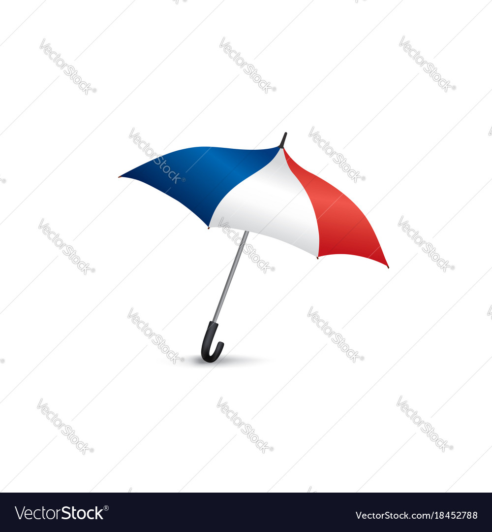 French flag colored umbrella travel france sign