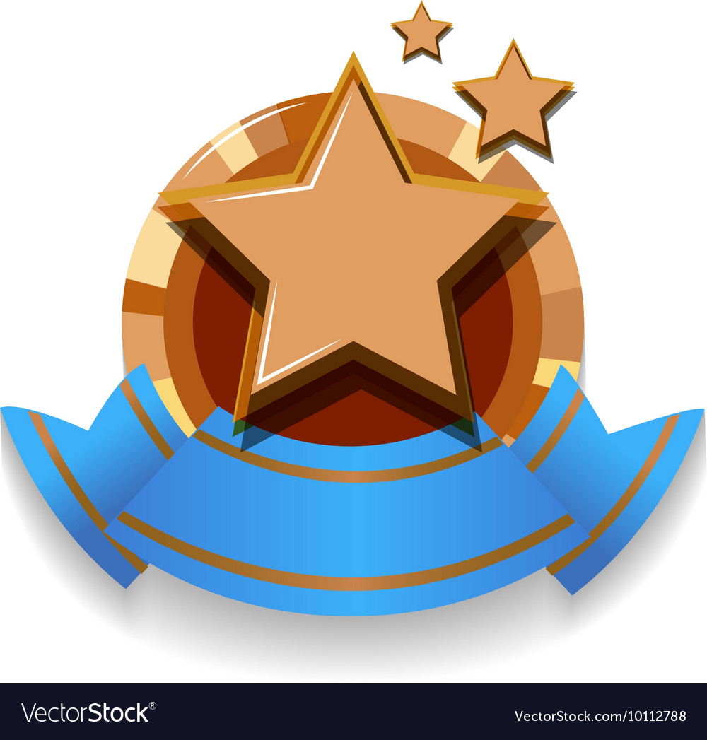 Logo design with stars and ribbon vector image