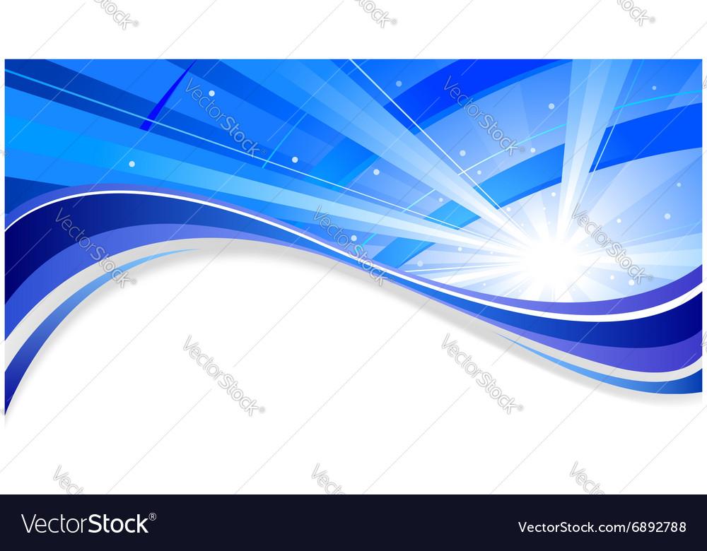 Radiant blue background
