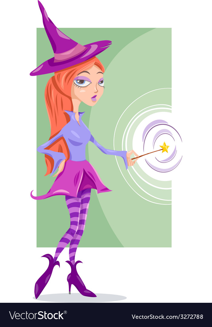 Witch or fairy fantasy cartoon