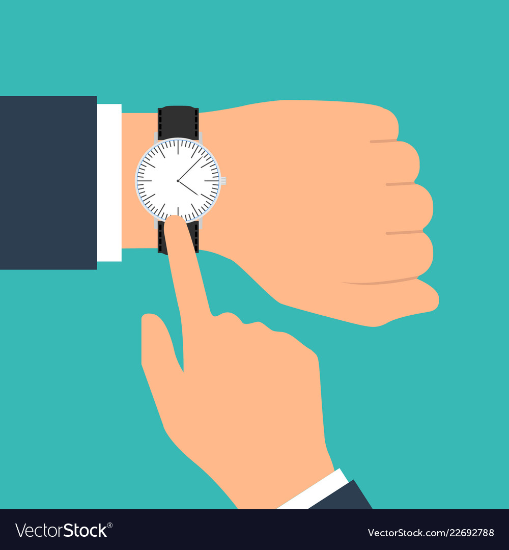 Wristwatch on the hand of businessman in suit
