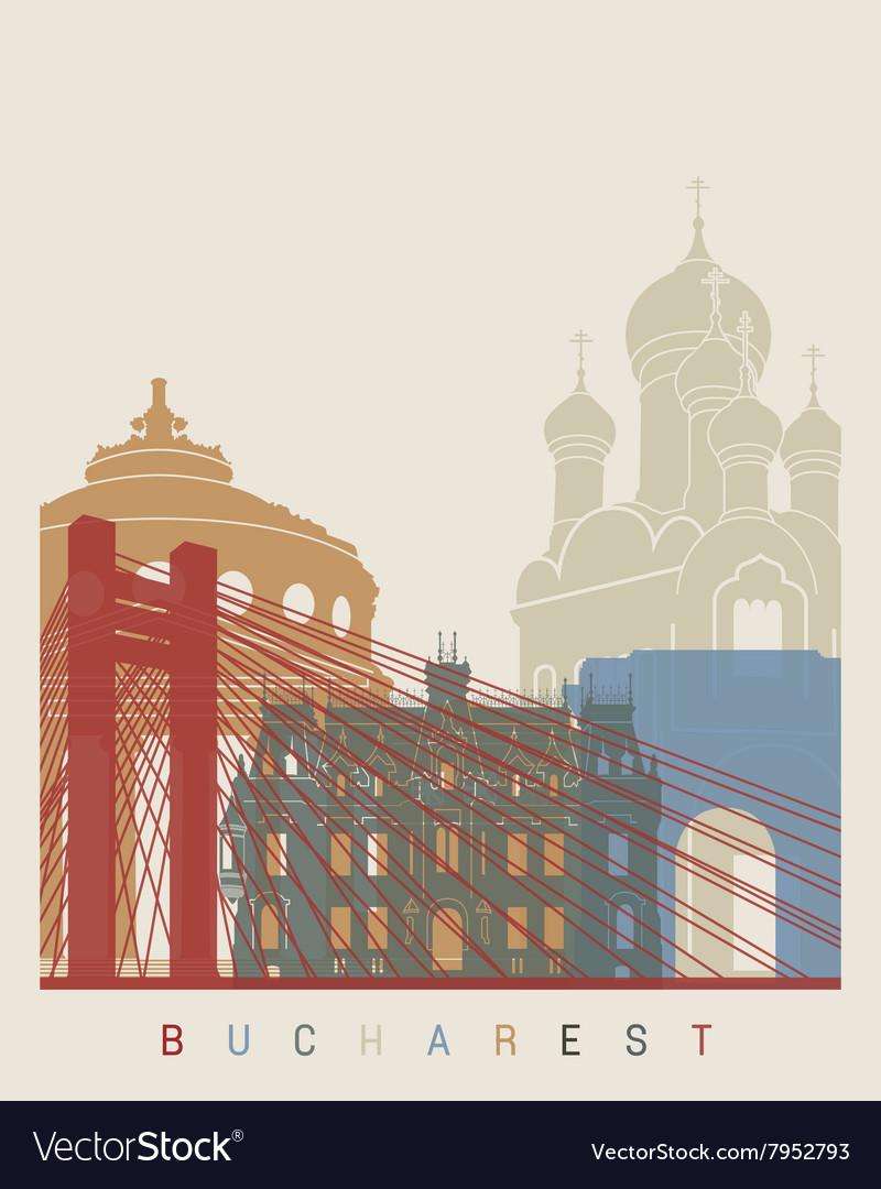 Bucharest skyline poster