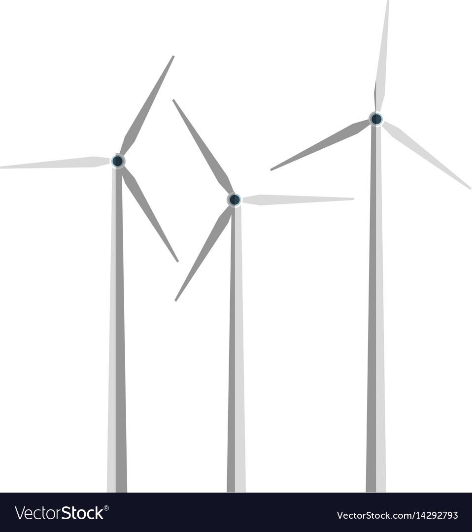 Eolic wind turbine icon