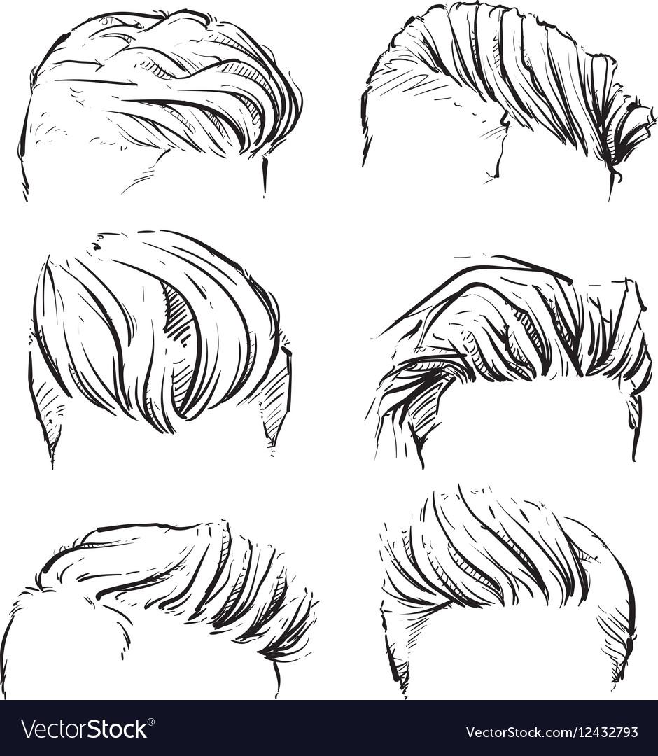 Hipster man hair style beard clipart vector image