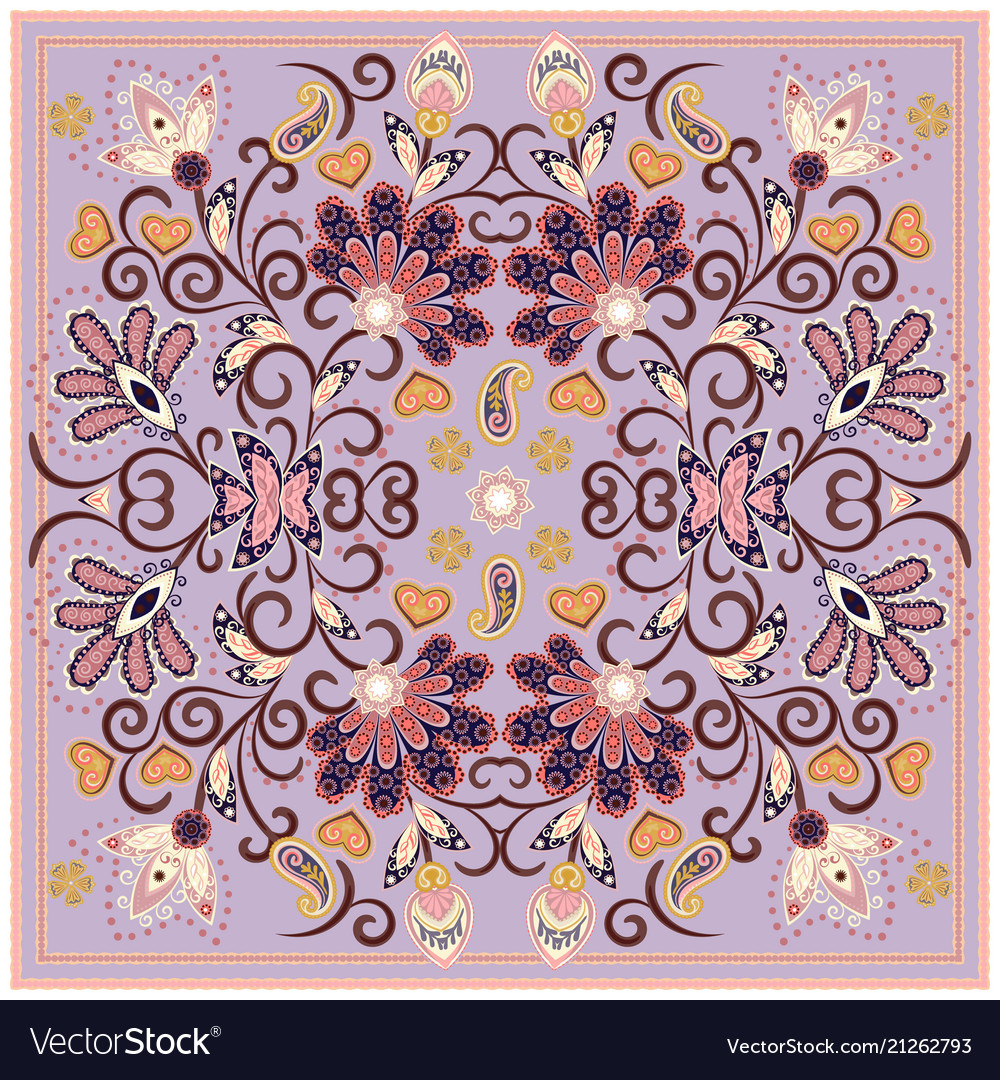 Lovely tablecloth ethnic indian flowers beautiful