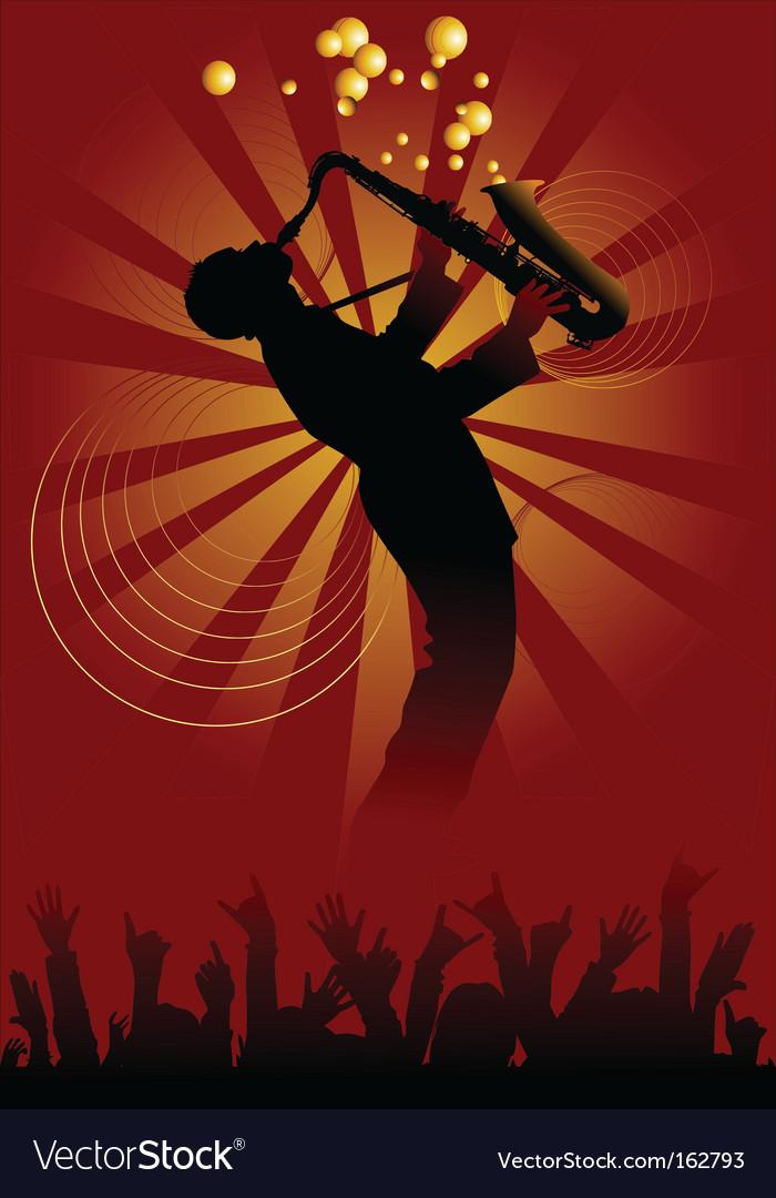 Magic saxophone vector image