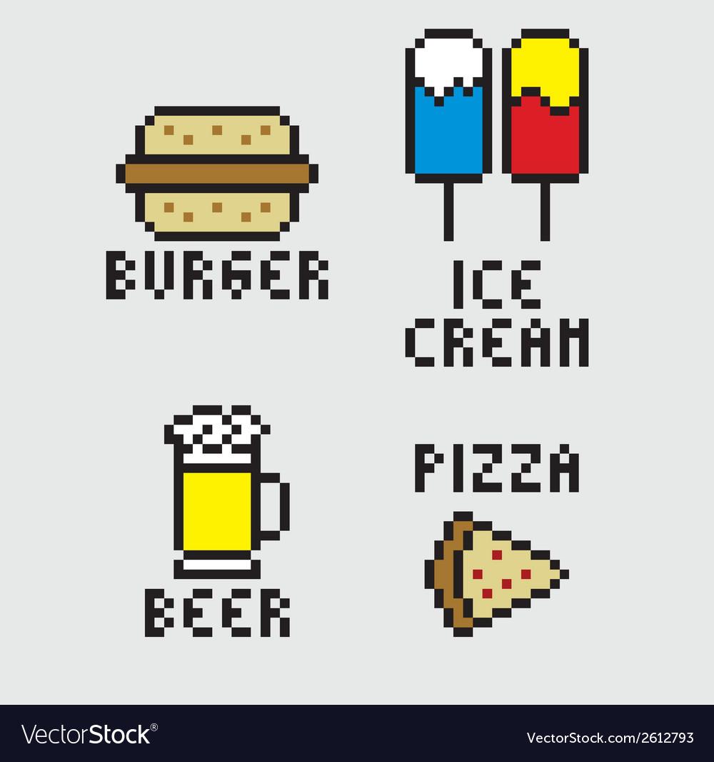 Pixel food