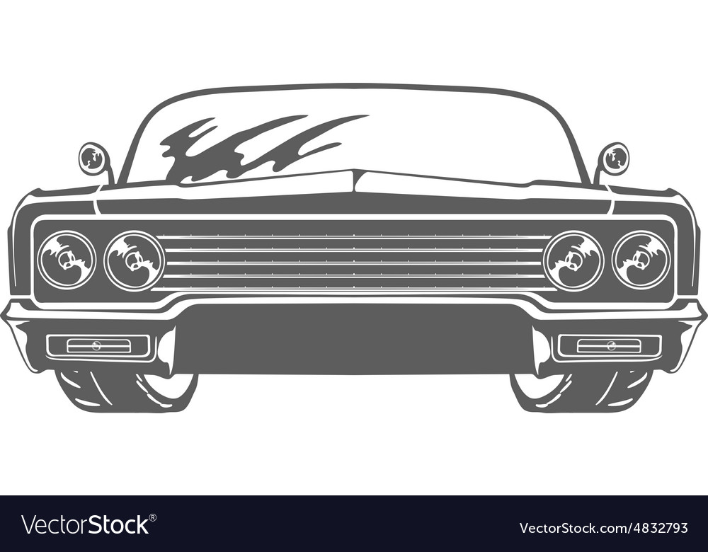 Retro car isolated on white background