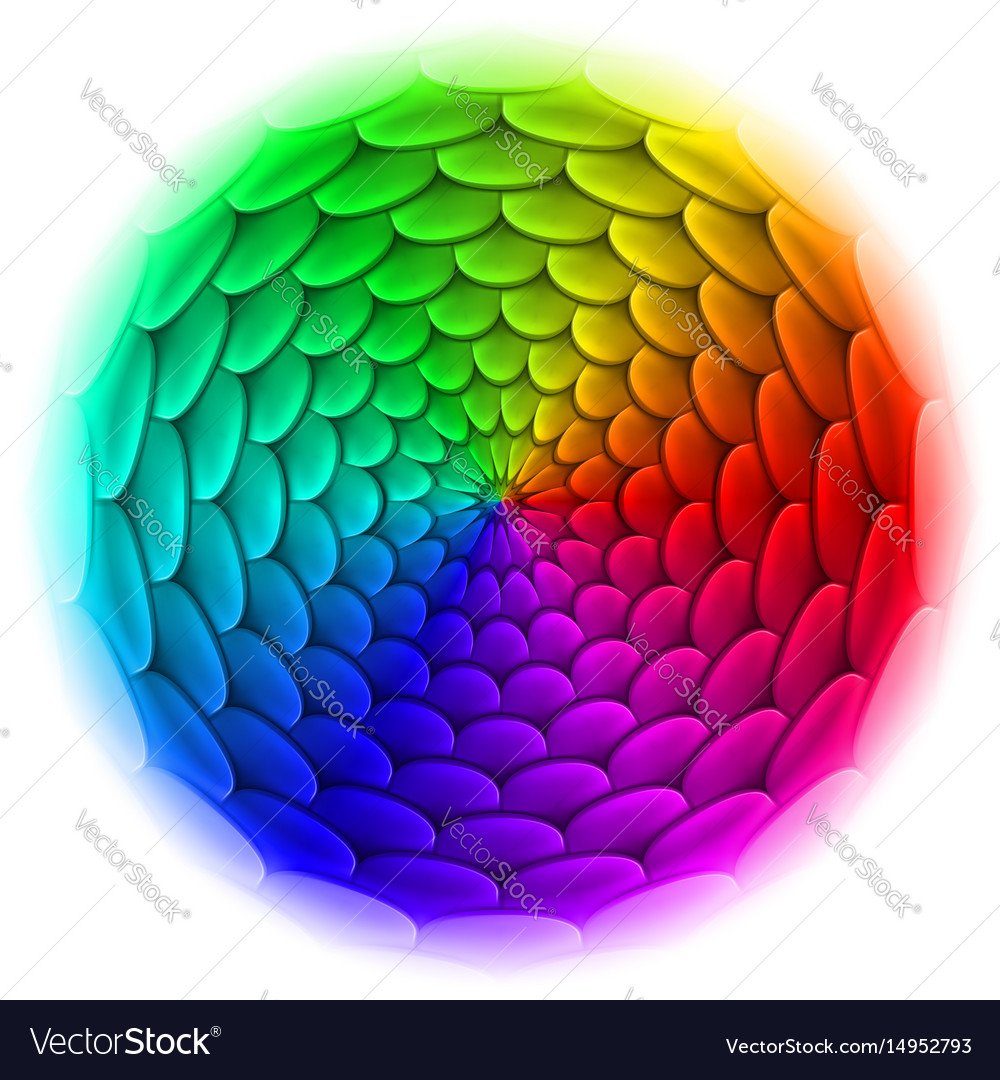 Roof tile pattern abstract design in spectrum and vector image