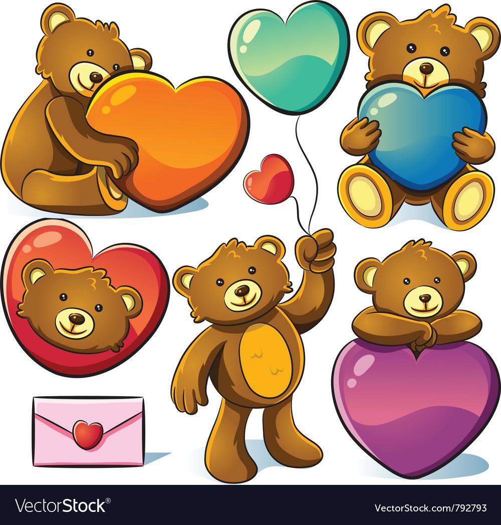 Valentine cute bear