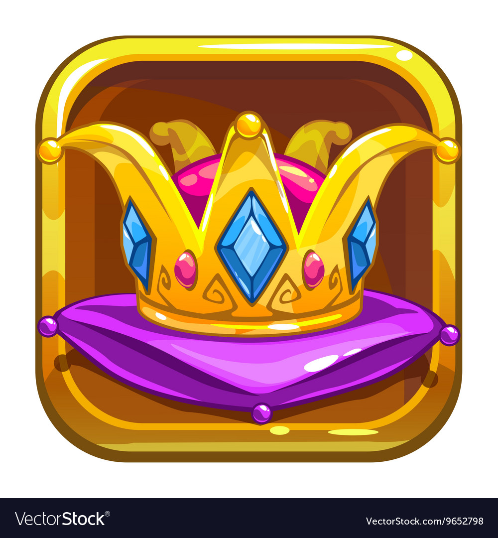 App store icon with golden crown