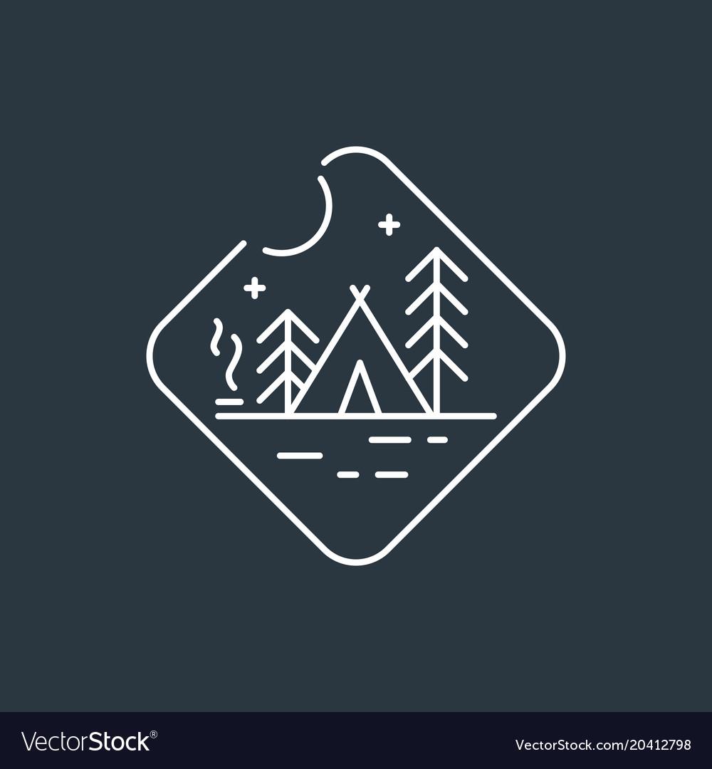 Badge camping logo