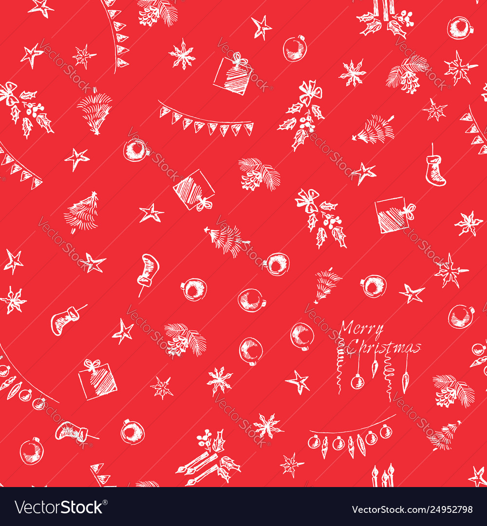 Christmas pattern in pencil seamless wrapping